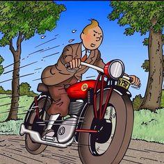 #tintin #moto #belgium by surreyspeedshop
