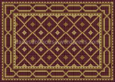 with link to chart Needlepoint Patterns, Crochet Blanket Patterns, Cross Patterns, Beginner Crochet Tutorial, Crochet Headband Pattern, Minis, Crochet Pillow, Red Rugs, Home Rugs