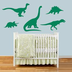 Dinosaur Wall Decals, Dinosaur Stickers, Dinosaur Nursery, Decal for Kids, Dino Decals, Dinosaur Vinyl Sticker, Kids Room, Boys Room Decal
