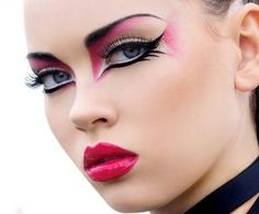 Oh I like this - Punk Makeup add colour and texture with each look