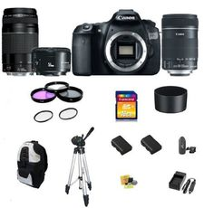 Canon EOS 60D DSLR Camera with 3 Canon Lens Pro Pack: Includes - Canon EF-S 18-135mm f/3.5-5.6 IS Lens - Canon Zoom Telephoto EF 75-300mm III - Canon EF 50mm f1.8 II Autofocus Lens, Also Includes Deleuxe Backpack, 2 Extra Batteries & Travel Charger, 16GB SDHC Card & Card Reader, 3 Piece Pro Filter Kit with 2 Extra UV Filters and much more..., http://www.amazon.com/dp/B005IP0AU2/ref=cm_sw_r_pi_awdm_7Utctb043KDKZ
