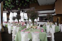 Green and Pink themed wedding from Patricia and Denis' wedding at Atlantis.