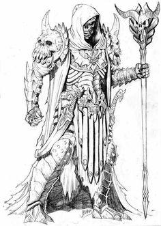 cartoons tattoos Skeletor by Rubus - Game Character Design, Character Art, Drawing Sketches, Drawings, Cartoon Tattoos, Alien Art, Comic Book Artists, Fantastic Art, Cartoon Art