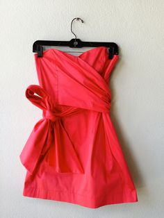 French connection bright pink bustier dress 6 #bustier #bustier-dress #color #dress #french-connection #pink #size-6