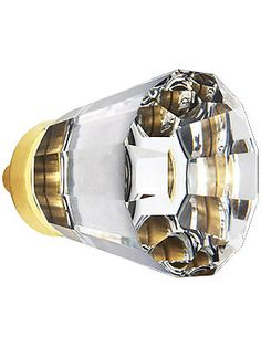 Medium Brookmont Crystal Cabinet Knob With Solid Brass Base | House of Antique Hardware