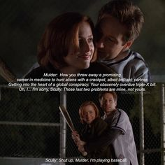 "[6.19 The Unnatural] ""shut up mulder, im playing baseball""  some people were requesting this scene and well we all love everything from the baseball scene right?  - #xfiles #thexfiles"