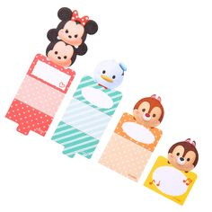 [Disney Store] stand memo TSUM TSUM Minnie (Donald, Chip & Dale) | Disneystore and if mail order and sales of gift-gift