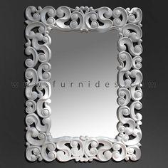Cermin Hias Ukiran Kayu Pesegi   FurniDes.Com