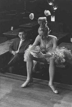 France. The Cabaret Dancer, Paris, 1950s. // Photo by Edouard Boubat
