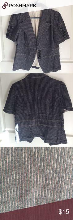 Short sleeve blazer 97% cotton 3% spandex zinc Jackets & Coats Blazers