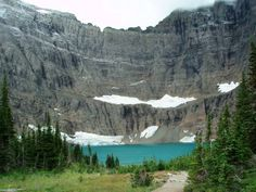 #hiking #visitmt  Approaching Iceberg Lake, Many Glacier, Glacier National Park, Montana, USA.