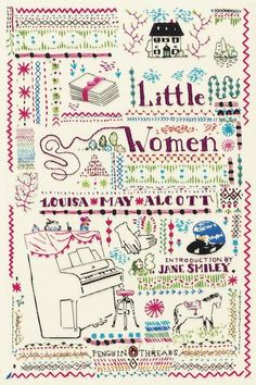 Little Women- embroidered classics  I want to replicate this for reals