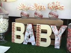 Baseball Baby Shower Letters