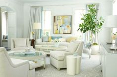The Enchanted Home - Pale blue and white