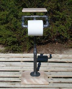 Industrial Free Standing Toilet Tissue Holder With by Splinterwerx