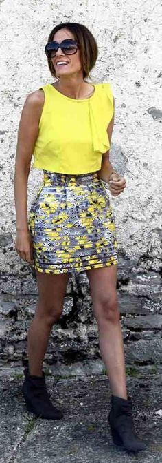 Rebel Attitude Bright Yellow And Gray Outfit #Fashionistas