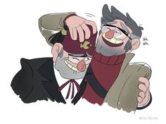 Gravity Falls - Grunkles Stan and Ford Pines. Stanley Pines, Fall Tumblr, Gravity Falls Art, Low Gravity, Gavity Falls, Pinecest, Dipper And Mabel, Disney Xd, Disney Stuff