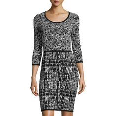 Marc New York by Andrew Marc Houndstooth Sweater Dress