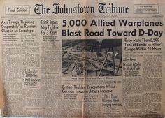 The Johnstown Tribune - World War II: April 19, 1944: 5,000 Allied Warplanes Blast Road ...