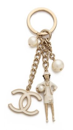 What Goes Around Comes Around Vintage Chanel Coco Key Ring