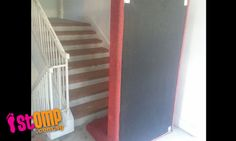 Furniture store staff helps 'dispose' old sofa -- by leaving it at staircase landing