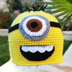 Despicable Me Minion -ish Hat :  One- Eyed Minion Handmade Crochet Beanie Hat Minion Hats, Minions, Cool Inventions, The Minions, Awesome Inventions, Minions Love, Minion Stuff