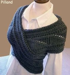 Sew the ends of a large scarf together for a cute accessory sweater.   OMG! looks like the shawls from Lark Rise to Candleford!