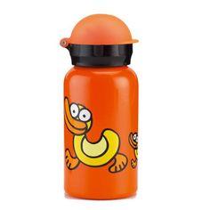 Kukuxumusu aluminium drinkfles Eendjes van het merk Laken. Leuk en handig voor op school of onderweg. Inhoud: 350ml