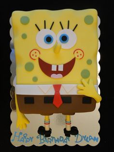 Spongebob cake my dad so needs this cake for his bday!!!!