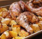 This one-pan supper is the Best Greek Chicken and Potatoes. It& loaded with garlicky flavor, oregano and loads of lemon. Greek Chicken And Potatoes, Greek Lemon Chicken, Greek Roasted Chicken, Cooking Recipes, Healthy Recipes, Delicious Recipes, Greek Recipes, Simply Recipes, Chicken Recipes