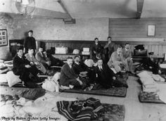 Survivors of the Titanic disaster, May 1912.