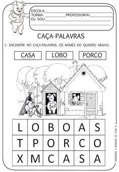A Arte de Ensinar e Aprender: Atividades temáticas - Os 3 porquinhos Conte, First Grade, Homeschool, Teaching, Activities, Education, Victor Hugo, Facebook, Language Activities