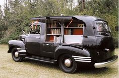This could be my office on wheels! from the Bookshelf Blog, of course!