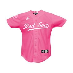 Boston Red Sox Toddler Pink Jersey by adidas ($25) ❤ liked on Polyvore featuring jersey and tops