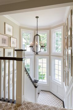 In Good Taste: Ken Gemes - Design Chic  Check out the stair rails and the chandelier