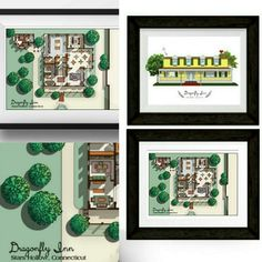 A collage of the Gilmore Girls Dragonfly Inn collection.