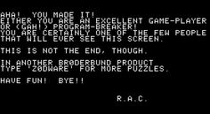 It Took 33 Years For Someone to Find the Easter Egg in This Apple II Game