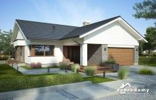 Judyta - Dobre Domy Flak & Abramowicz Bungalow, Mediterranean Homes, House Plans, Shed, Exterior, Outdoor Structures, House Design, Architecture, Building