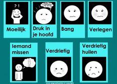 emotiekaart 6 Learn Dutch, 4 Kids, Children, Job Info, Brain Gym, Skills To Learn, Autism Spectrum Disorder, Kids Education, Asd