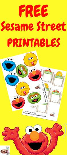 DIY Sesame Street party favour favor decorations. Free printables included with tutorial