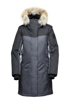 Nobis Abby - Grey Jacket - Womens 975  Winter Parka 974fab9176e2