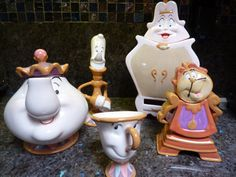 Beauty and The Beast Disney Tea Set 10th by DKCollectibles on Etsy