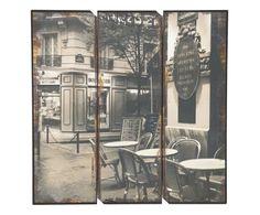 """Sada 3 nástěnných dekorací """"Paris II"""", 40 x 40 cm Home Living, Shabby, Romantic, Paris, Chair, Painting, Home Decor, Montmartre Paris, Decoration Home"""