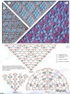 Crochet shawls diagrams