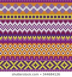 varicolored seamless knitted patterns with fair isle elements Stitch Patterns, Knitting Patterns, Yellow Belt, Crochet Socks, Fair Isle Pattern, Fair Isle Knitting, Stitch Design, Pull, Lana