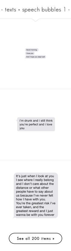 """""""- texts + speech bubbles 1 -"""" by nightwaves ❤ liked on Polyvore featuring text, text messages, fillers, chat bubbles, fillers - speech bubbles, quotes, phrase, saying, words and fillers - text"""