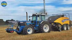 Ford 8830 SOUND Full Powershift + New Holland Cropcutter Agricultural Work John Deere 4320, Classic Tractor, Agriculture Farming, Ford Tractors, 2019 Ford, New Holland, Childhood, Sport, Tractor