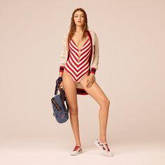 Tommy Hilfiger Striped Bathingsuit Gigi Hadid - apple red / bright white (Red) - Tommy Hilfiger Swimwear - detail image 3 #editorials #style #editoriasdemoda