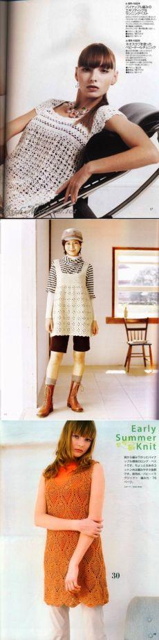 Croșeta Tunica este foarte frumos.  scheme de tricotat