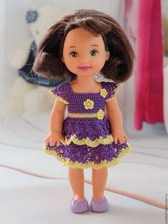 Одежда для кукол ручной работы. Платье для куклы Kelly Mattel. Lusil (LusilDoll). Интернет-магазин Ярмарка Мастеров. Вязание для куклы